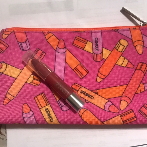 Clinique make up bag and chubby stick